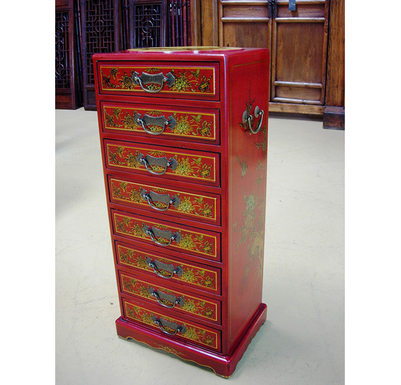 Chinese Jewellery Cabinet 8 Drawer