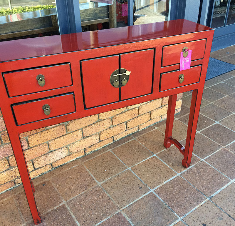Chinese Hallway Entrance Table Red