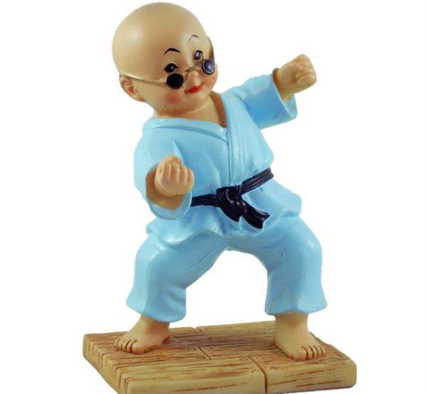 Kung Fu Monk Figurine Blue
