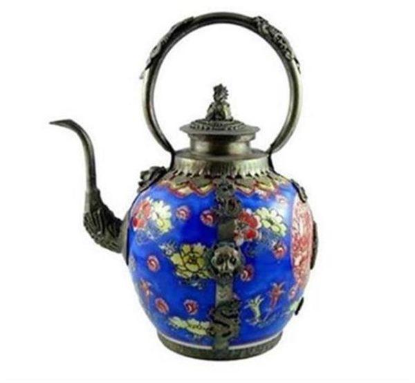 Tibetan Teapot Blue