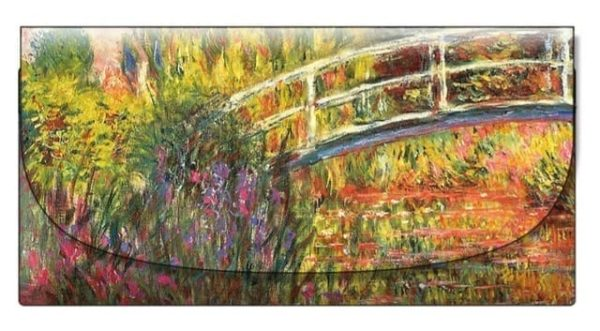 Velour Glasses Case Japanese Bridge Monet