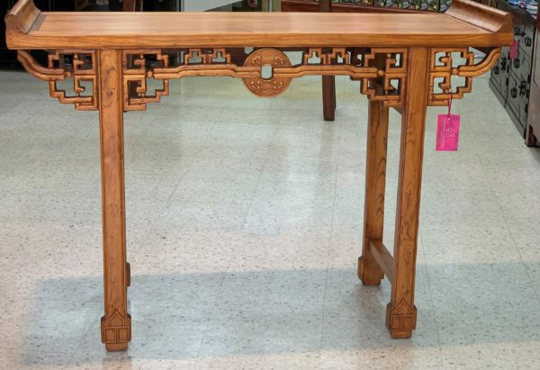 Chinese Elm Carved Table
