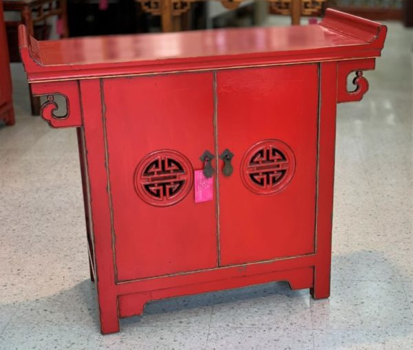 Chinese Red 2 Door Cabinet