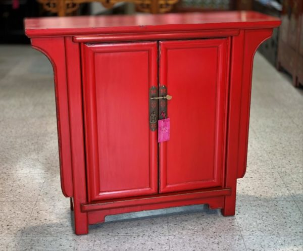 Chinese Red 2 Door Hall Cabinet