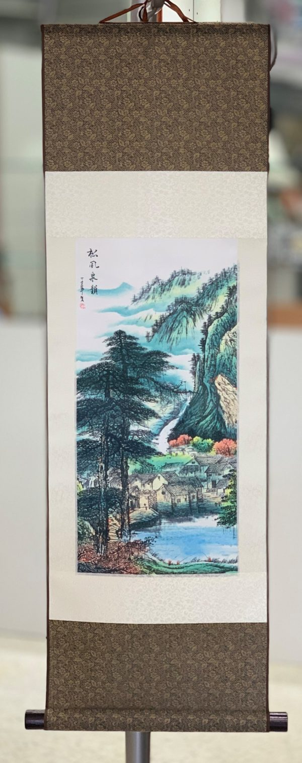 Chinese Wall Scroll River Scene