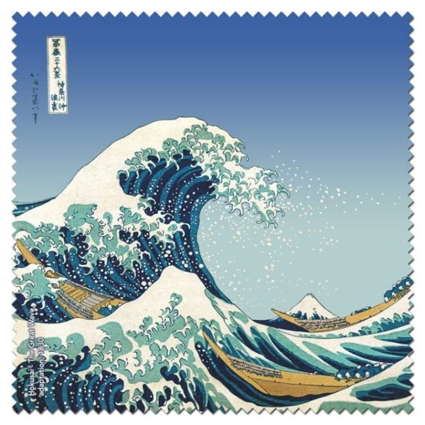 Microfibre Cloth The Great Wave Hokusai