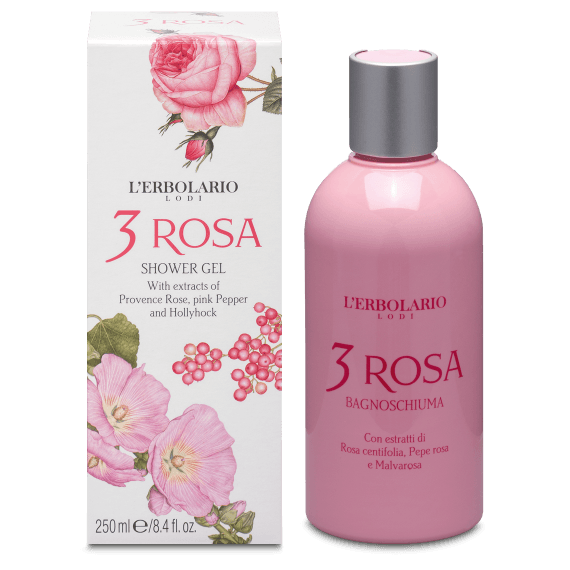 L'Erbolario 3 Roses Shower Gel