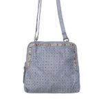 Cadelle Leather Bag Denim Blue Alessandra