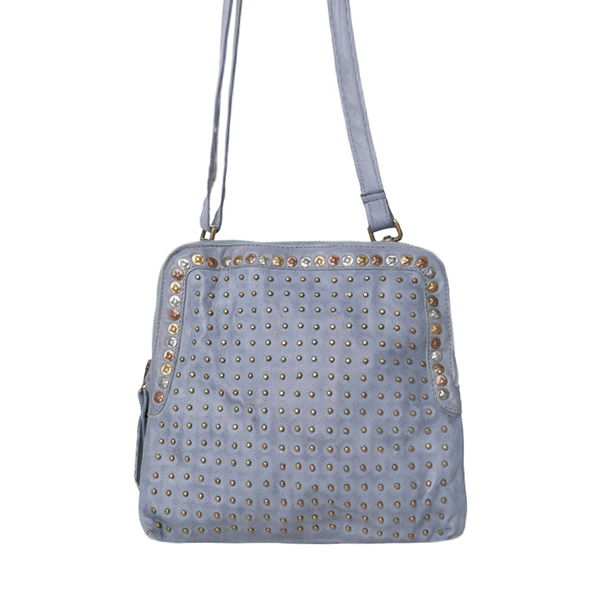 Cadelle Leather Bag Denim Blue Alessandra