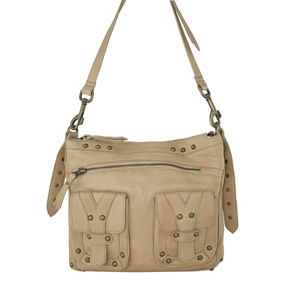 Cadelle Leather Camel Bag Athena