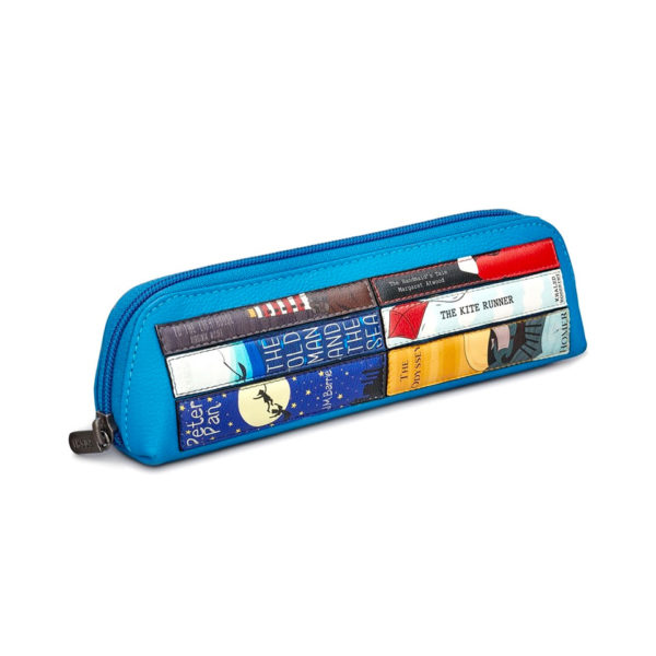 Leather Pencil Case Blue
