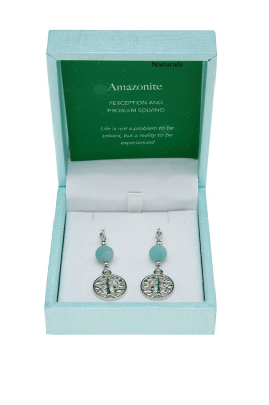 Earrings Tree of Life Amazonite
