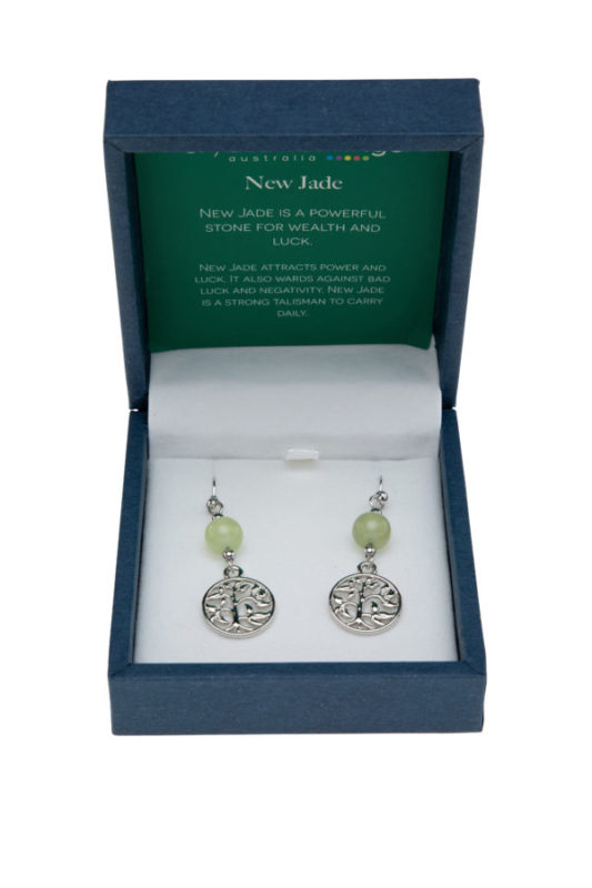 Earrings Tree of Life New Jade
