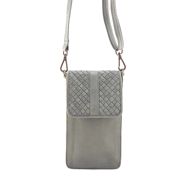 Cadelle Leather Phone Case Grey
