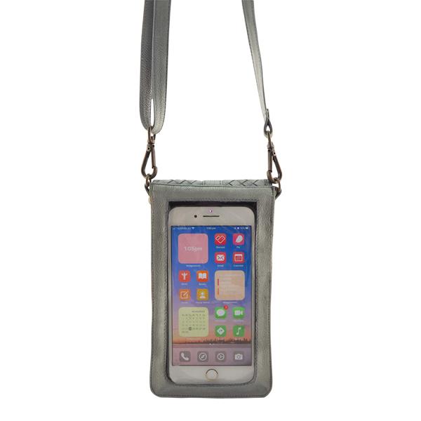 Cadelle Leather Phone Case Grey