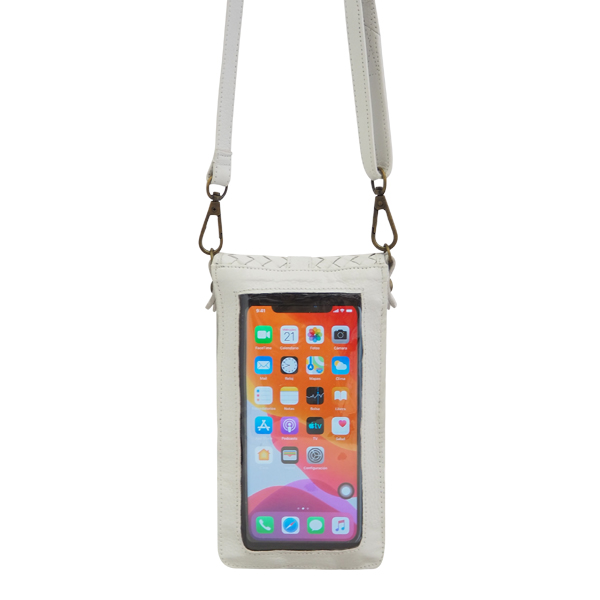 Cadelle Leather Phone Case White