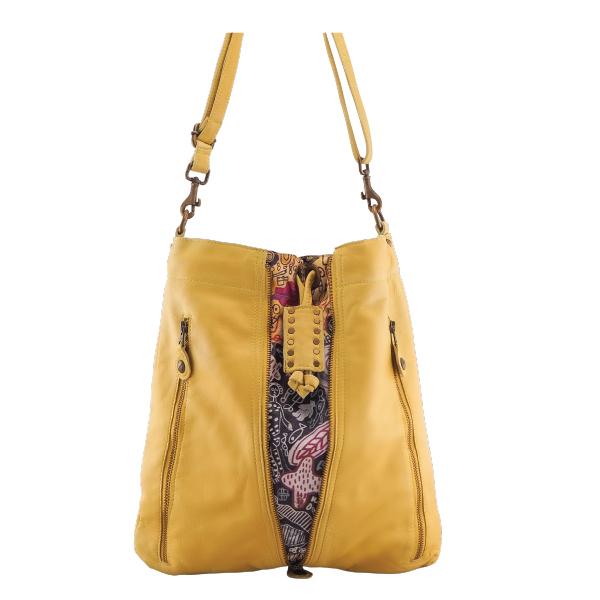 Cadelle Leather Bag Adalyn Saffron